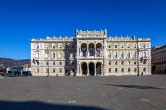Trieste, Palazzo della Prefettura Royalty Free Stock Photos