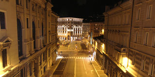 Trieste Piazza Goldoni Royalty Free Stock Photos