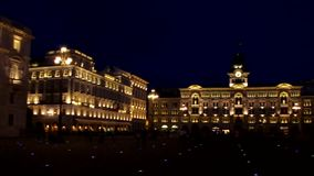 Trieste Piazza Grande night stock video footage