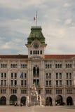 Trieste. Piazza unità d`italia in trieste Royalty Free Stock Image