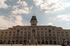 Trieste. Piazza unità d`italia in trieste friuli 2016 Royalty Free Stock Images