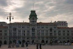 Trieste. Piazza unità d`italia in trieste friuli 2016 Stock Photo