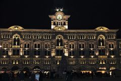 Trieste, Piazza Unità d`Italia. Piazza Unità d`Italia is the main square in Trieste, a seaport city in the northeast of Italy. The square faces the Adriatic Royalty Free Stock Images