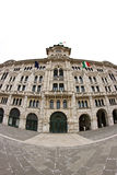 Trieste piazza Unità in fisheye Royalty Free Stock Image