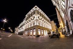 Trieste piazza Unità in fisheye Stock Photo