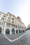 Trieste piazza Unità in fisheye Royalty Free Stock Photo