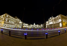 Trieste piazza Unità in fisheye Royalty Free Stock Photography