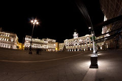Trieste piazza Unità in fisheye Stock Photography
