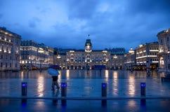 Trieste, Piazza Unità di Italia at night  - Friuli  Stock Photography