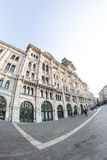 Trieste piazza Unità in fisheye Royalty Free Stock Photo