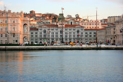 Trieste piazza Unita Stock Photos