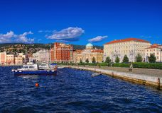 Trieste pier Royalty Free Stock Photos