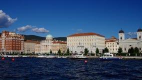Trieste pier stock video
