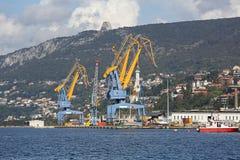 Trieste port Zdjęcia Stock