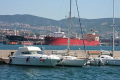 Trieste  port_cargo Royalty Free Stock Image