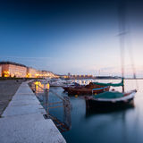 Trieste port at night Stock Image
