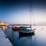 Trieste port at night Royalty Free Stock Photo
