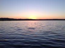 Trieste& x27; puesta del sol de s Imagen de archivo