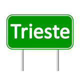 Trieste road sign. Royalty Free Stock Images