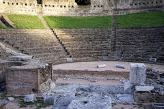 Trieste. Roman ruins of the amphitheater Royalty Free Stock Photo
