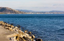 Trieste Skyline in Winter Royalty Free Stock Photos