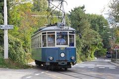 Trieste spårvagn royaltyfria foton