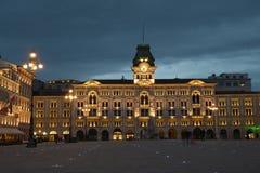 Trieste stadshus i Italien arkivbild