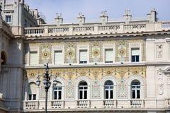 Trieste, szczegół miasto miejski budynek Obraz Stock
