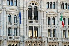 Trieste urząd miasta Fotografia Royalty Free