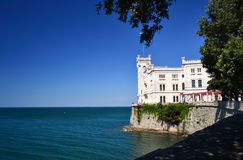 Trieste. View of Miramar Castle, Trieste, Italy Stock Images