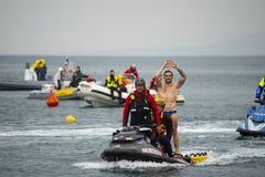 18 05 2019 Trieste, Włochy Włoski highdiver Alessandro De Wzrastający obraz royalty free