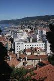 Trieste, Włochy, widok od wzgórzy Obraz Stock