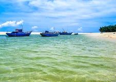 Trieu Duong海滩-一个狂放的海滩在Phu Quy 图库摄影