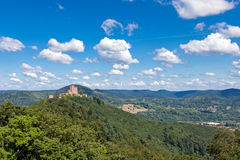 Trifels. The fortress Trifels in Germany on a sunny day Royalty Free Stock Photo