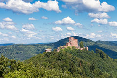 Trifels. The fortress Trifels in Germany on a sunny day Stock Photos