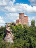 Trifels. The fortress Trifels in Germany on a sunny day Royalty Free Stock Image