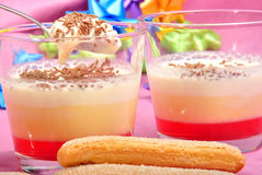 Triffle in a glass Stock Photo