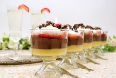 Trifle and Champagne Royalty Free Stock Images