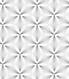 Trifoglii appuntiti a strisce grigi Immagine Stock