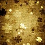 Trifoglii di Grunge su tela di canapa Fotografia Stock Libera da Diritti