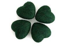 trifoglio 4leaf costituito dai clews verdi Immagini Stock