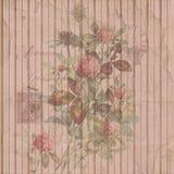Trifoglio d'annata afflitto eleganza misera floreale e struttura del fondo di cose effimere illustrazione vettoriale