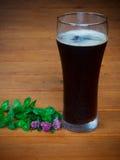 Trifoglio e birra scura Fotografia Stock