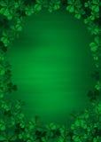 Trifoglio su verde Fotografia Stock