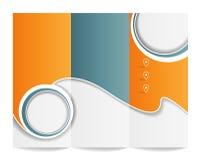 Trifold шаблон брошюры Стоковые Изображения RF