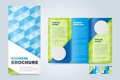 Trifold шаблон дизайна брошюры дела Стоковая Фотография RF