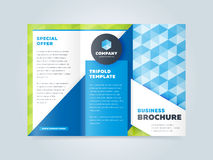 Trifold шаблон дизайна брошюры дела Стоковое фото RF