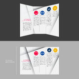 Trifold Brochure Template Design in DL Size  Royalty Free Stock Photography