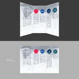 Trifold Brochure Template Design in DL Size Stock Images
