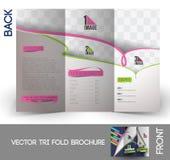 Trifold broschyr för dansakademi Fotografering för Bildbyråer